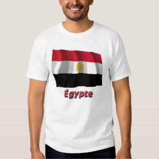 Français de Drapeau Égypte avec le nom en Camisetas