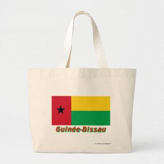 Français de Drapeau Guinée-Bissau avec le nom en Bolsa Tela Grande