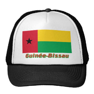 Français de Drapeau Guinée-Bissau avec le nom en Gorros Bordados