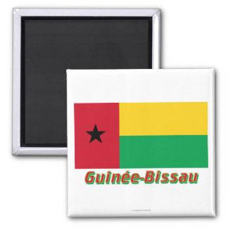 Français de Drapeau Guinée-Bissau avec le nom en Imán Cuadrado