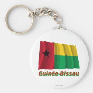 Français de Drapeau Guinée-Bissau avec le nom en Llavero Redondo Tipo Chapa