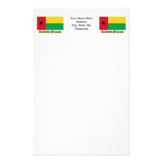Français de Drapeau Guinée-Bissau avec le nom en Papelería De Diseño