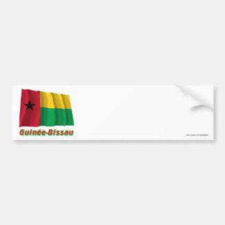 Français de Drapeau Guinée-Bissau avec le nom en Pegatina Para Coche