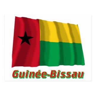 Français de Drapeau Guinée-Bissau avec le nom en Postal