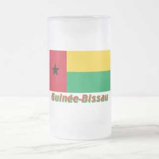 Français de Drapeau Guinée-Bissau avec le nom en Taza De Café