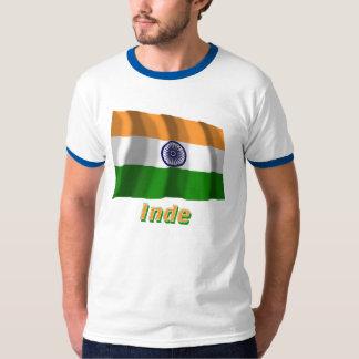 Français de Drapeau Inde avec le nom en Camiseta