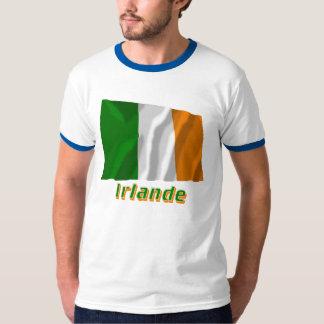 Français de Drapeau Irlande avec le nom en Camisetas