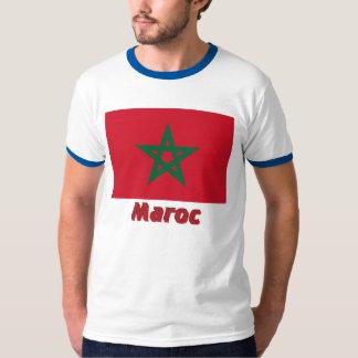 Français de Drapeau Maroc avec le nom en Camisas