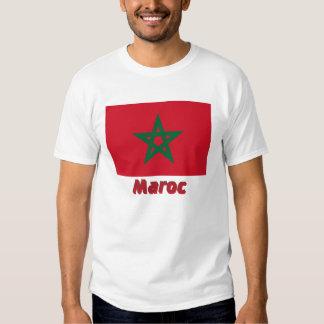Français de Drapeau Maroc avec le nom en Camiseta