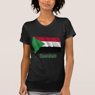 Français de Drapeau Sudán avec le nom en Camiseta