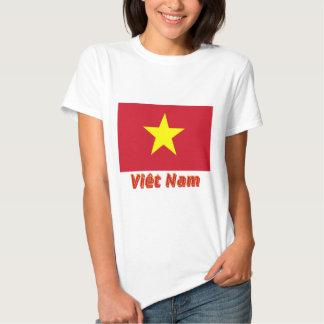 Français de Drapeau Viêt Nam avec le nom en Camiseta