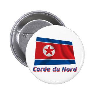 Français de le nom en del avec de Drapeau Corée du Chapa Redonda 5 Cm