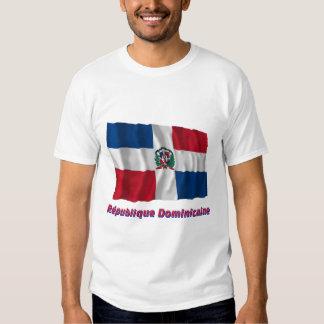 Français del en del nom del dominicaine de Drapeau Camiseta