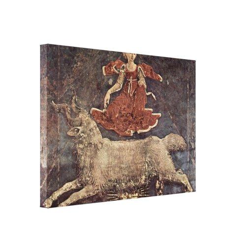 Francesco del Cossa - alegoría de la primavera Impresiones En Lona