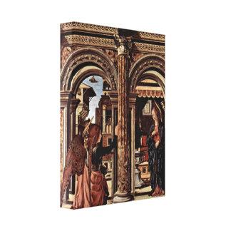Francesco del Cossa - altar del anuncio Impresion En Lona
