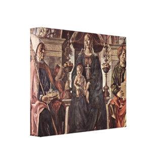 Francesco del Cossa - Madonna y St Petronius Impresion En Lona