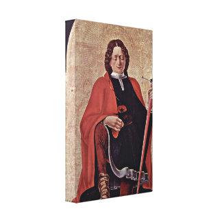 Francesco del Cossa - St PeterSt Florian Lienzo Envuelto Para Galerias