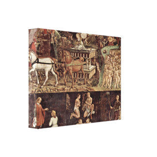 Francesco del Cossa - Triumph de los detalles de A Impresiones De Lienzo