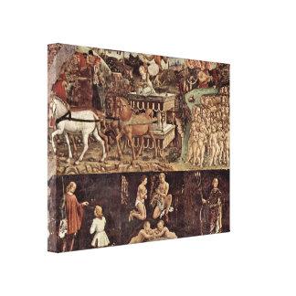 Francesco del Cossa - Triumph de los detalles de A Impresiones En Lona Estiradas