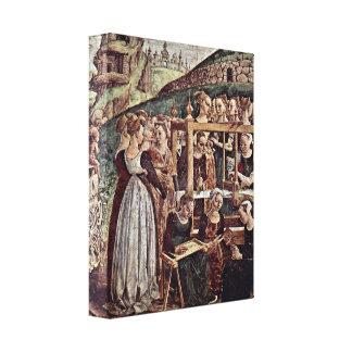 Francesco del Cossa - Triumph del detalle de Miner Impresion En Lona