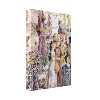 Francesco del Cossa - Triumph del detalle de Venus Impresiones En Lona