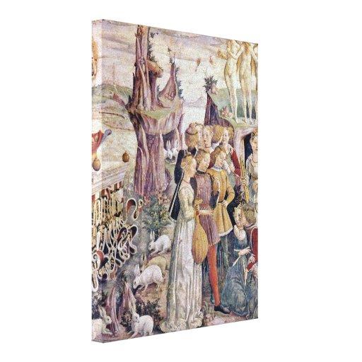 Francesco del Cossa - Triumph del detalle de Venus Lienzo Envuelto Para Galerías