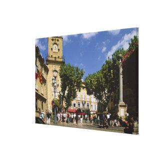 Francia, Aix-en-Provence, La Place de la Maire Lienzo Envuelto Para Galerías