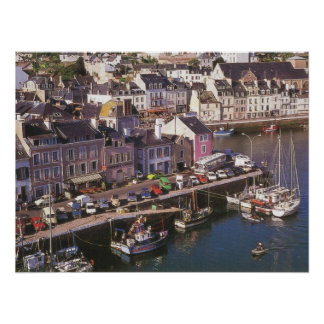 Francia, Bretaña, en Mer, amarres de Ile de la bel Impresiones