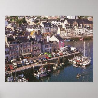 Francia, Bretaña, en Mer, amarres de Ile de la Póster