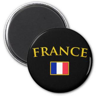 Francia de oro imán redondo 5 cm