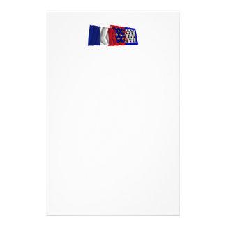 Francia y Pays-de-la-Loire que agitan banderas Papeleria De Diseño