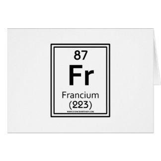 Francio 87 tarjeta de felicitación
