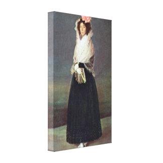 Francisco de Goya - del Carpio de Comtesse del ret Impresion En Lona