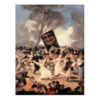 Francisco de Goya - el entierro del Sardina Postal
