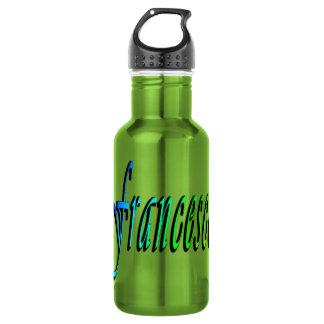 Francisco, nombre, logotipo, botella de agua