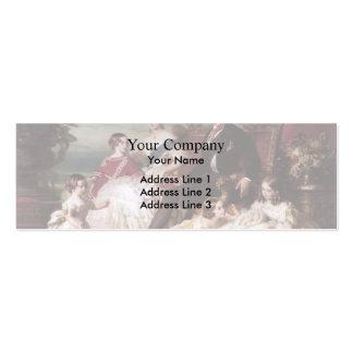 Francisco Xaver Winterhalter- la familia real en 1 Tarjetas De Visita Mini