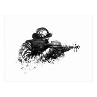 francotirador del violín postal