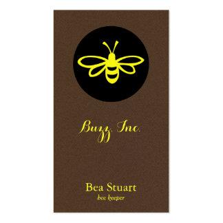 Franela marrón de la abeja [limón] el | falsa tarjetas de visita