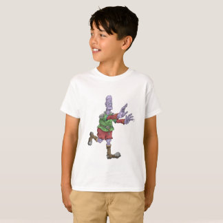 Frankenstein en una camiseta de los niños