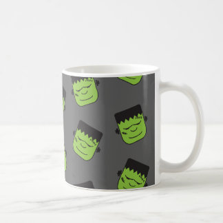 Frankenstein verde dirige el modelo Halloween Taza De Café