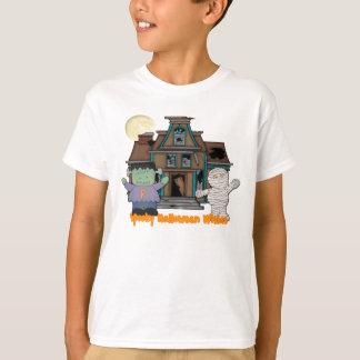 Frankenstein y camiseta de Halloween de la momia