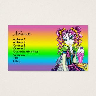 Franqueo de la hada del arco iris del helado del tarjeta de negocios