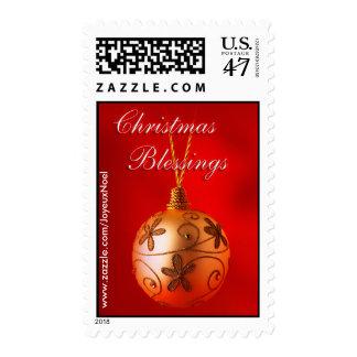 Franqueo de las bendiciones del navidad