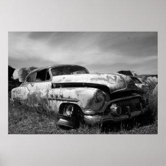 Franqueo del coche de Buick del vintage Póster