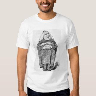 Franz Liszt (1811-86) como abad, caricatura de 'B Camisetas