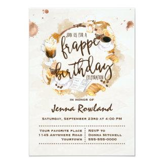 Frappe e invitación del cumpleaños de los