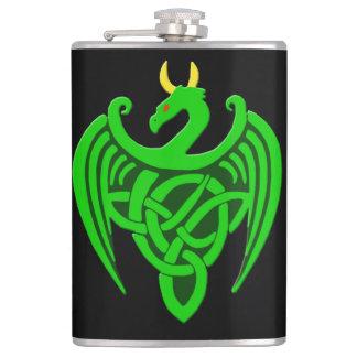 Frasco céltico verde del dragón petaca