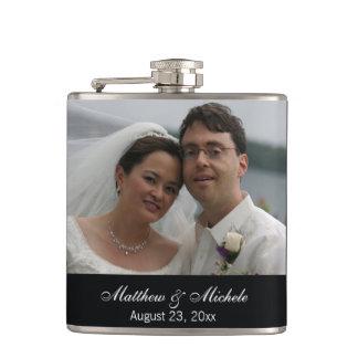 Frasco de encargo personalizado del boda de la fot petaca