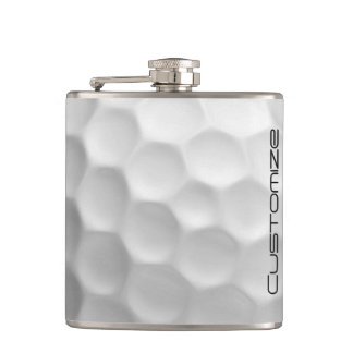 Frasco de la pelota de golf con nombre petaca