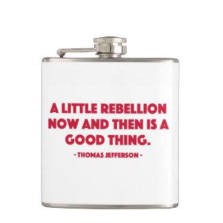 Frasco de la rebelión petaca